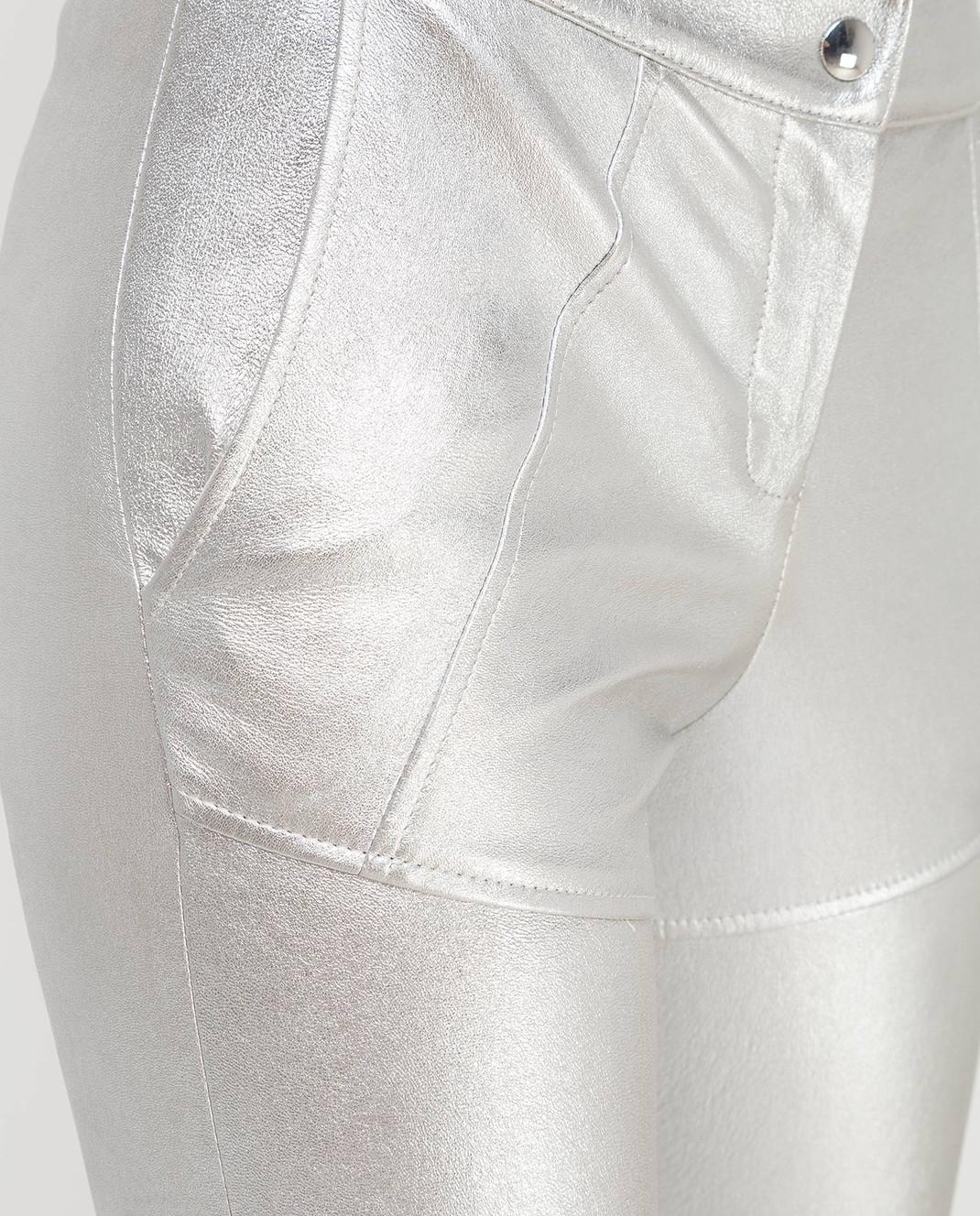 Yves Salomon Серебристые брюки 9EYP206XXAPSX изображение 5