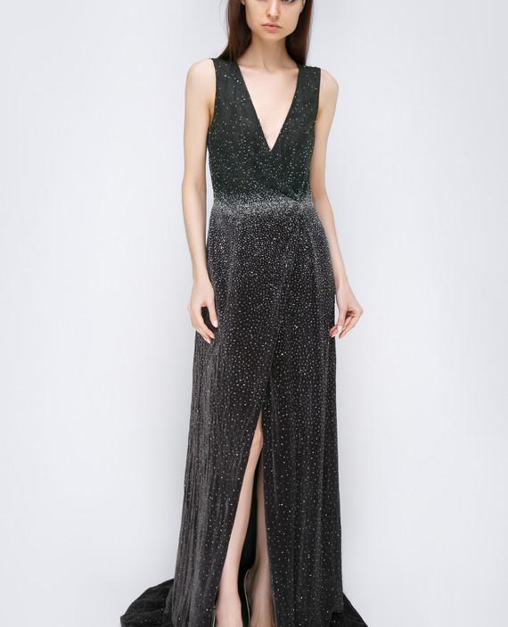 Темно-серое платье hover