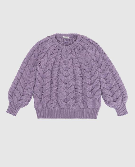 Детский сиреневый свитер из кашемира