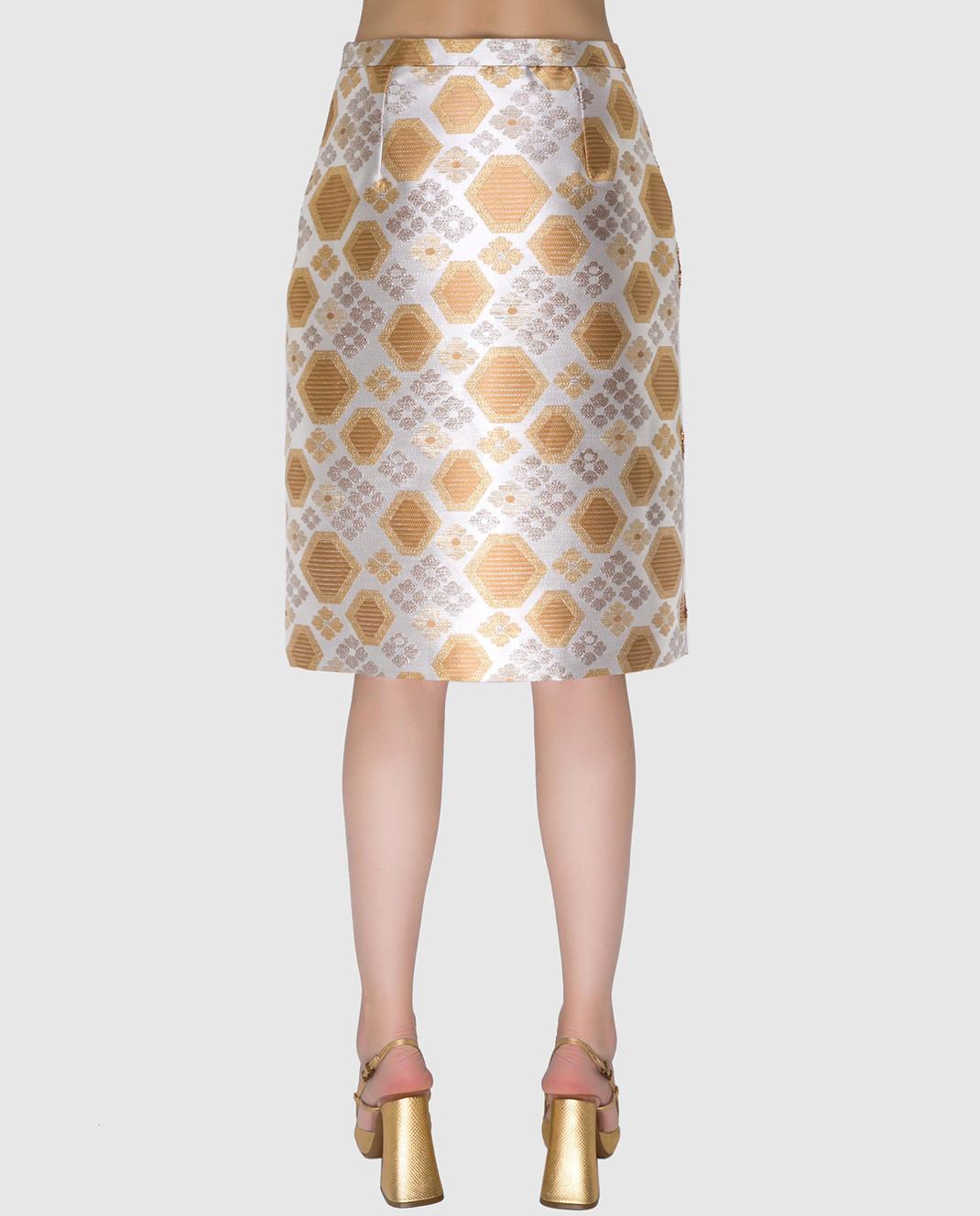Manoush Светло-бежевая юбка PE7BROJ изображение 4