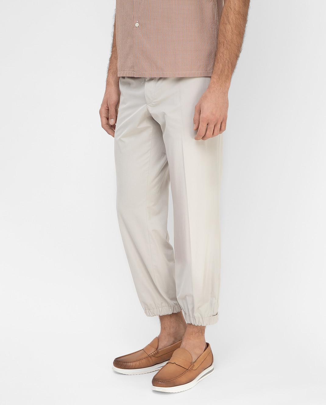 Prada Sport Светло-бежевые брюки SPF66 изображение 3