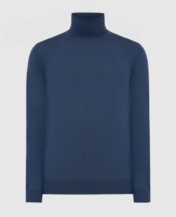 Синий гольф из шерсти