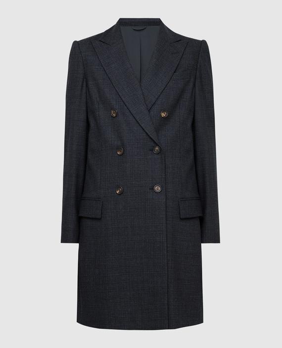 Темно-серое пальто из шерсти