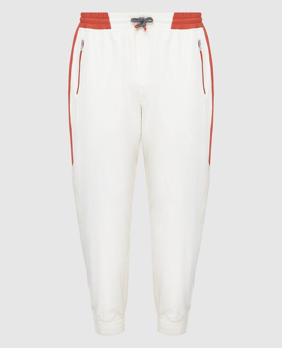 Светло-бежевые спортивные брюки