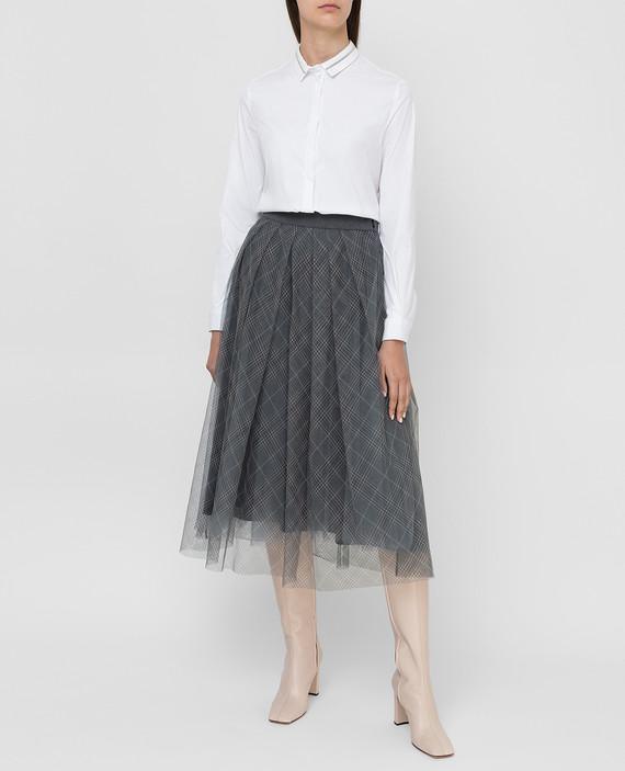 Темно-серая юбка hover