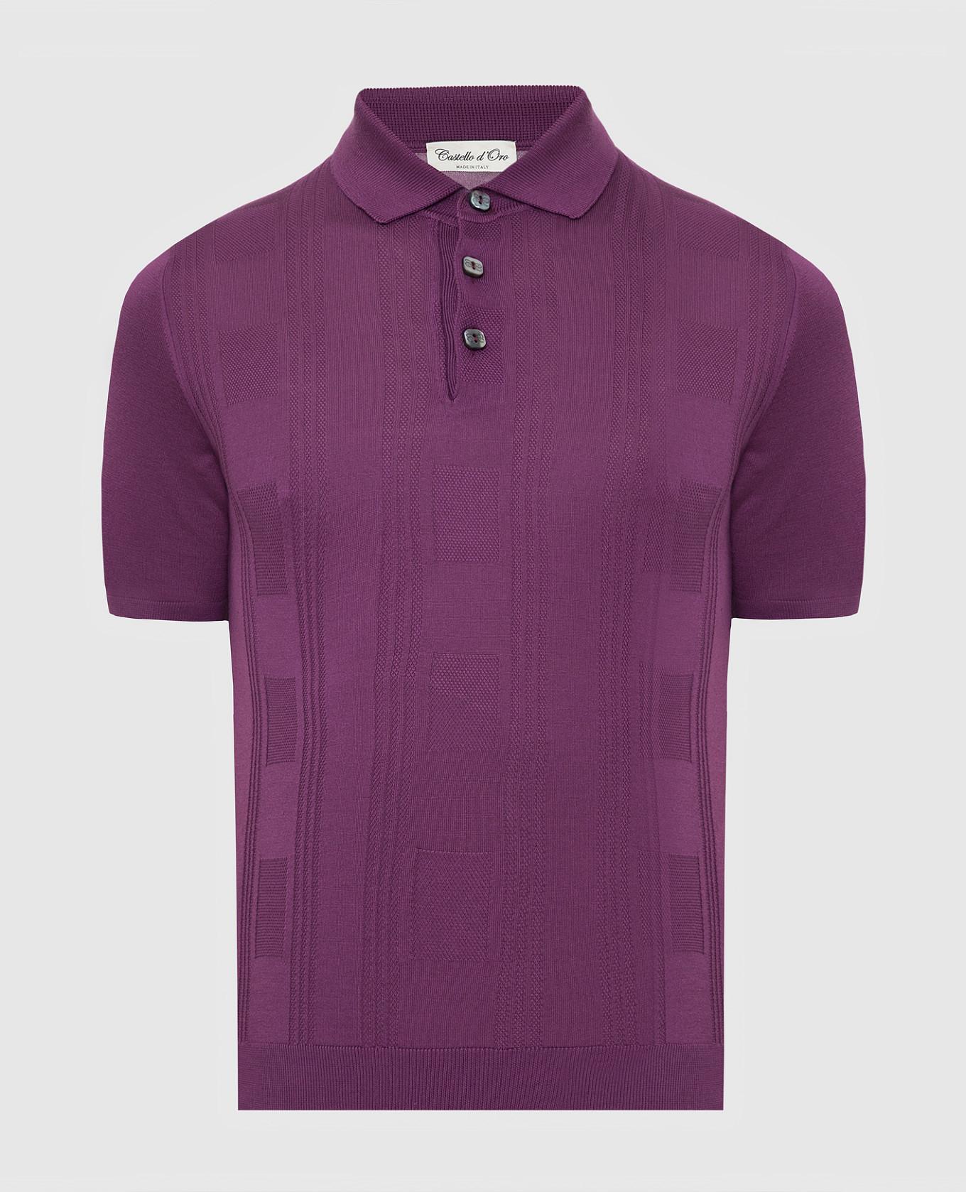 Фиолетовое поло из шелка