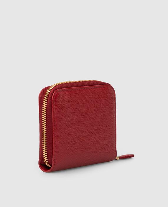 Красный кожаный кошелек hover