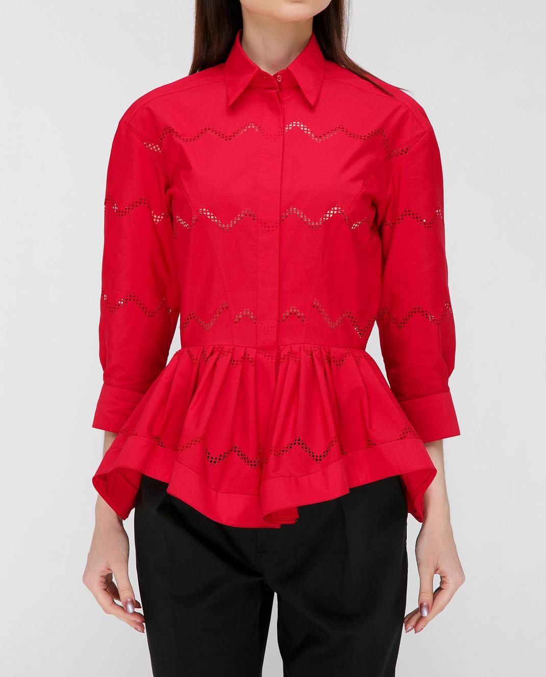Azzedine Alaia Красная блуза 7S9C081RTL49 изображение 3