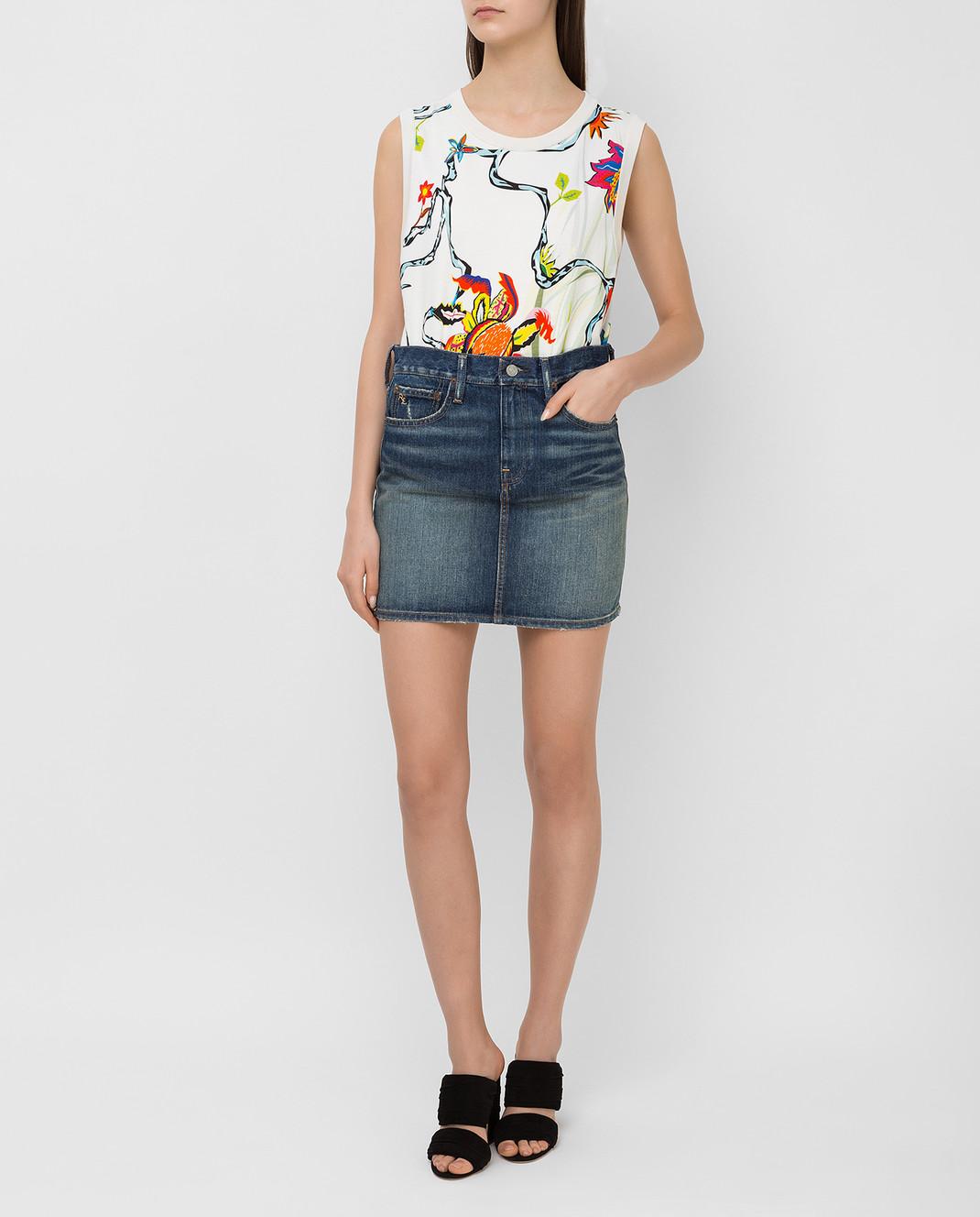 Ralph Lauren Синяя джинсовая юбка V60IH924 изображение 2