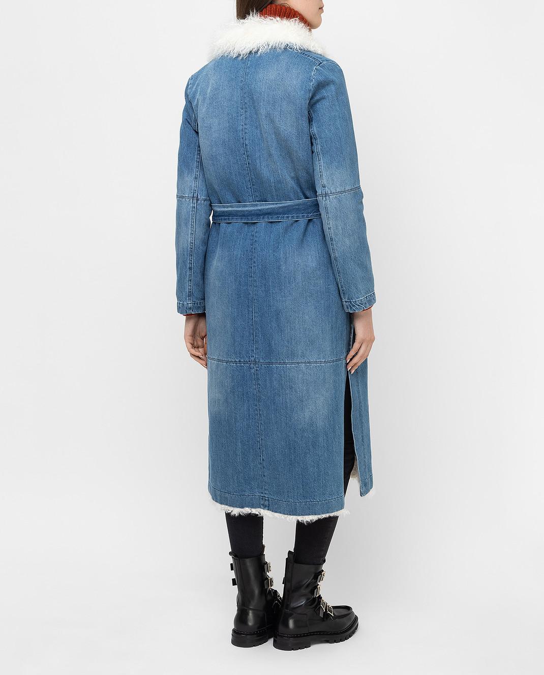 Simonetta Ravizza Синее джинсовое пальто VASIA3 изображение 4