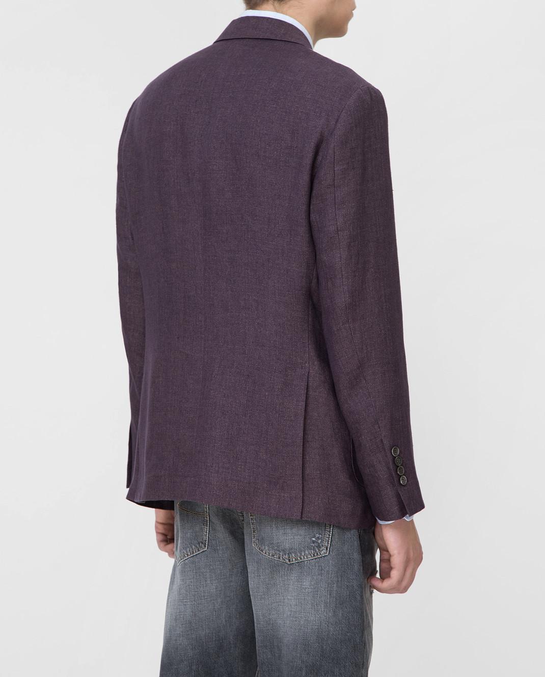 Brunello Cucinelli Сиреневый пиджак изображение 4