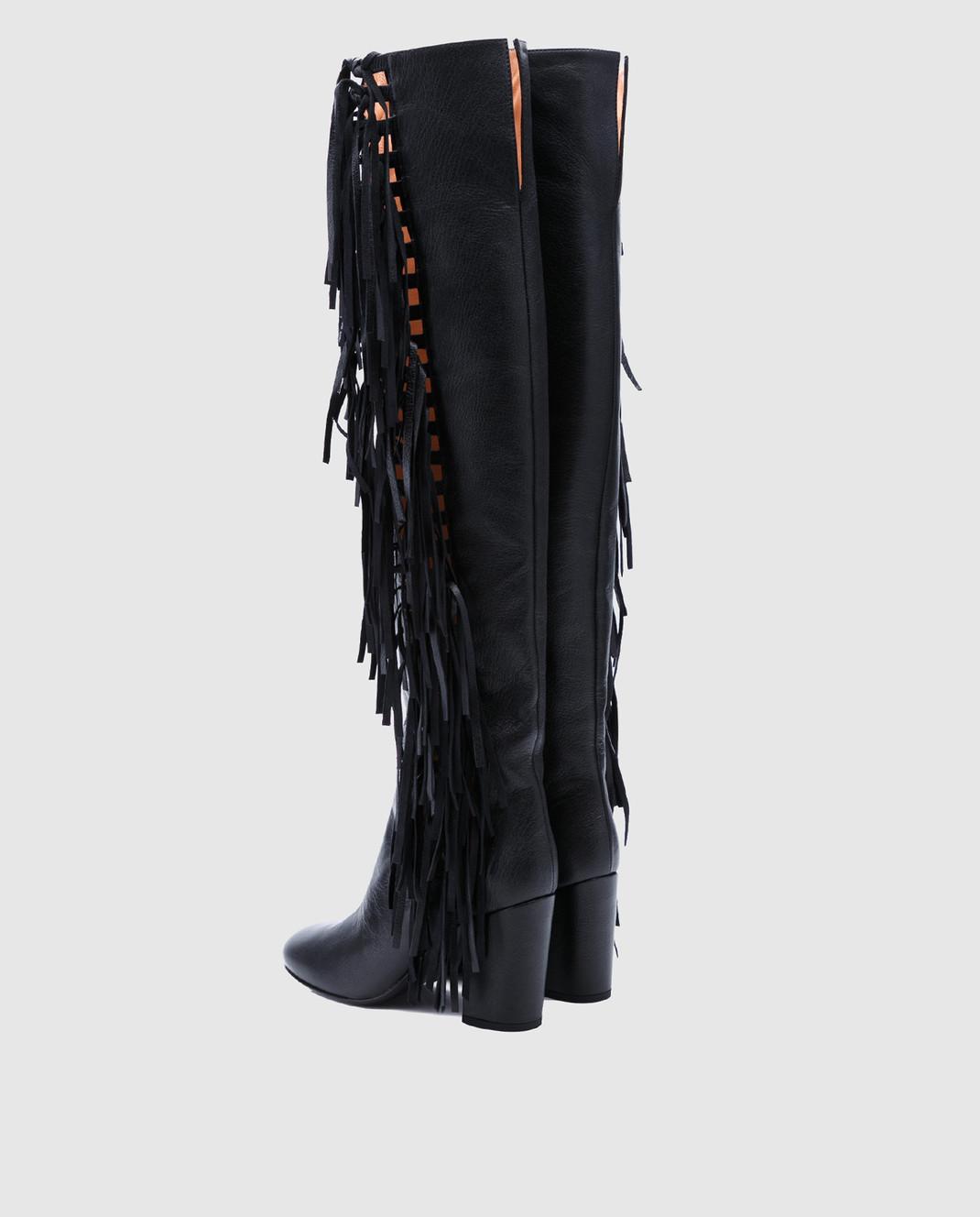 Laurence Dacade Черные кожаные ботфорты Sybille SYBILLE изображение 3