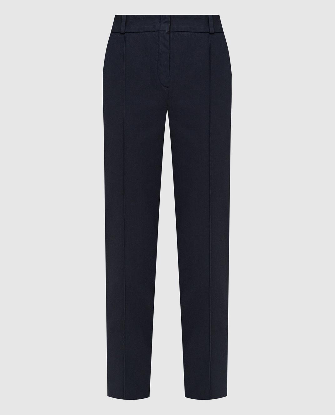 Loro Piana Темно-синие брюки F1FAI5089