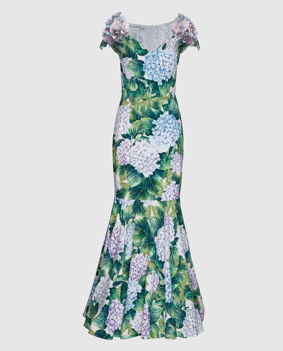 Dolce&Gabbana Зеленое платье изображение 1