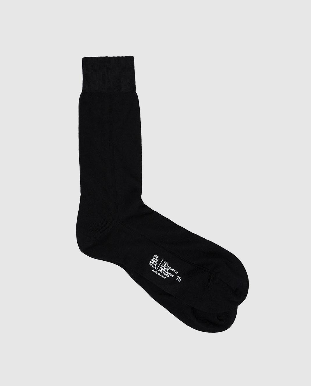 RiminiVeste Темно-синие носки из шерсти WN8011EMINENCE