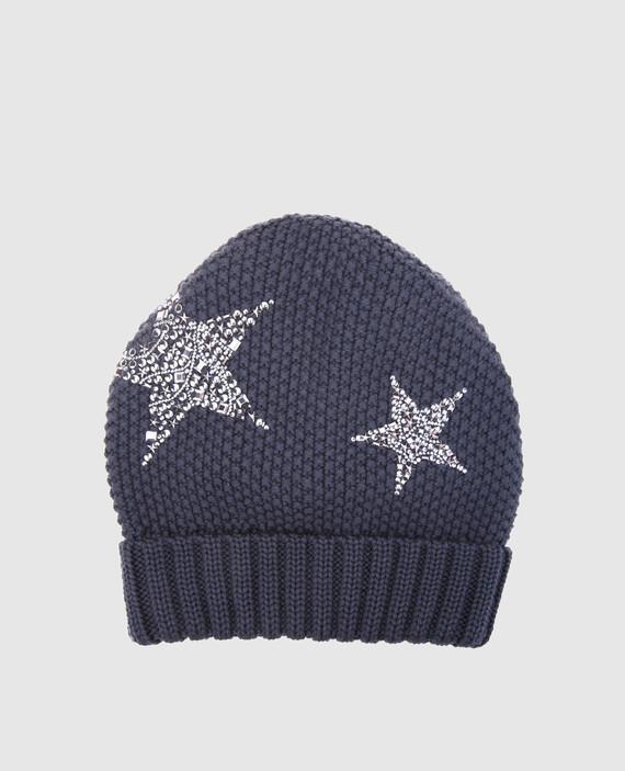 Детская темно-серая шапка
