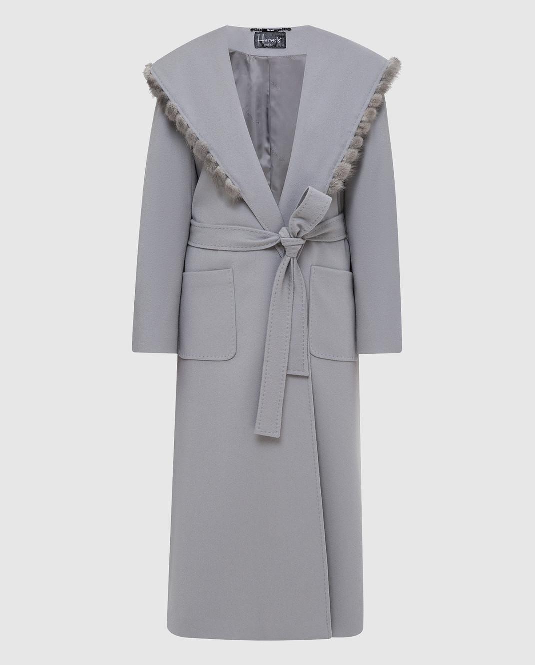 Heresis Серое пальто из шерсти M33130VIF260