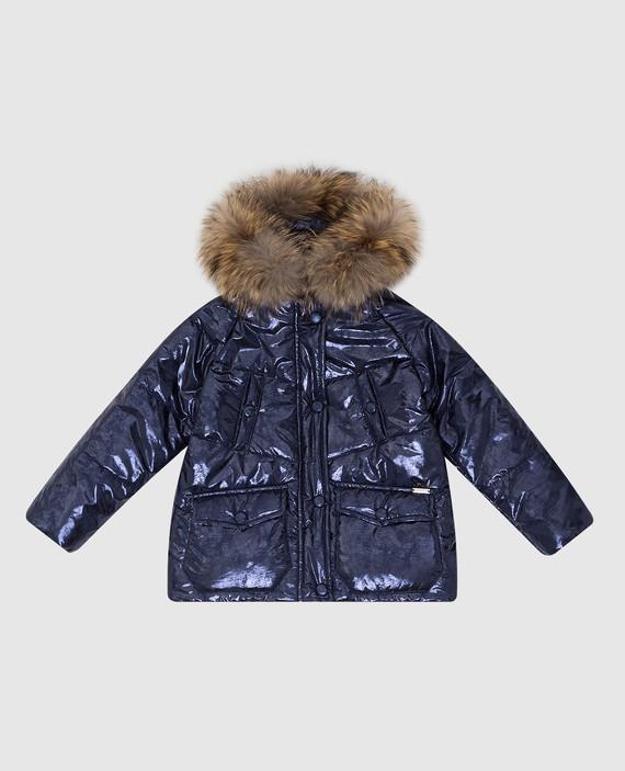 Детская синяя куртка