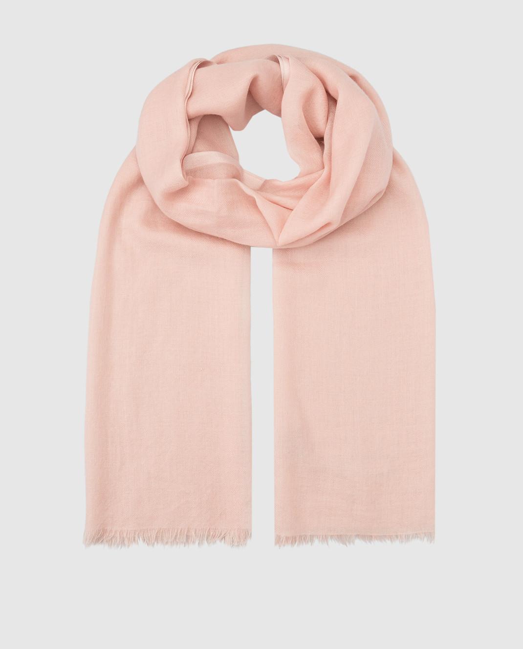Loro Piana Розовый шарф из кашемира и шелка F3FAI0704