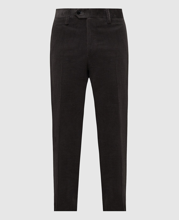 Темно-коричневые брюки
