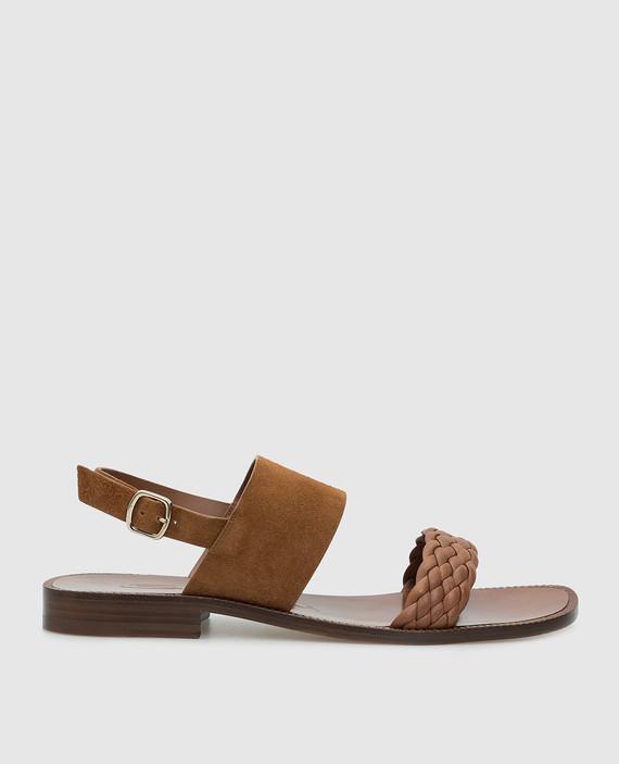 Коричневые сандалии