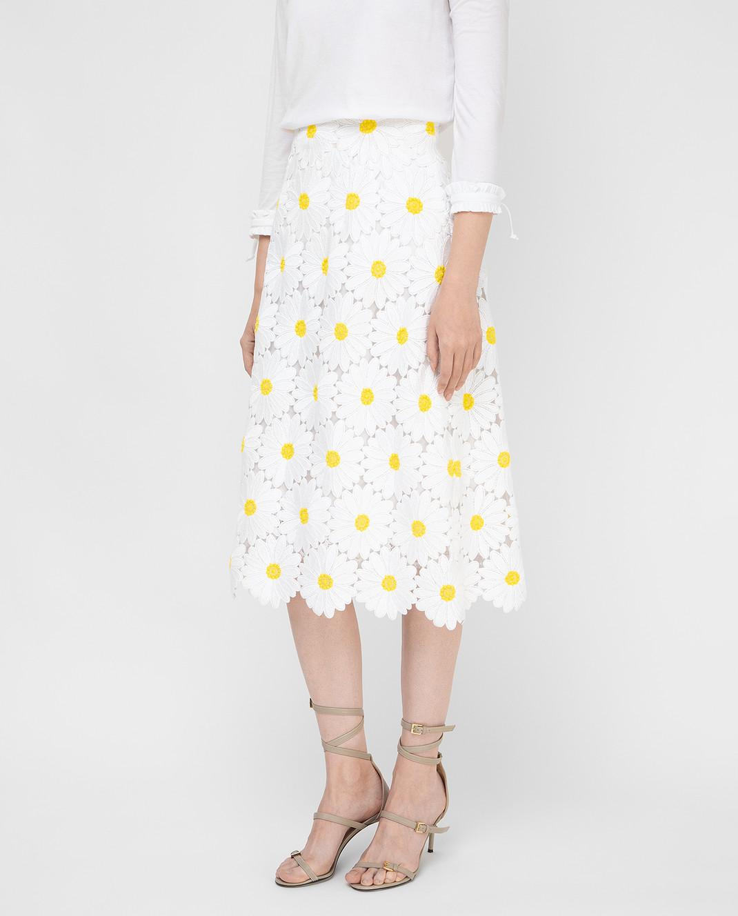 Dolce&Gabbana Белая юбка F4AHETHLMHE изображение 3