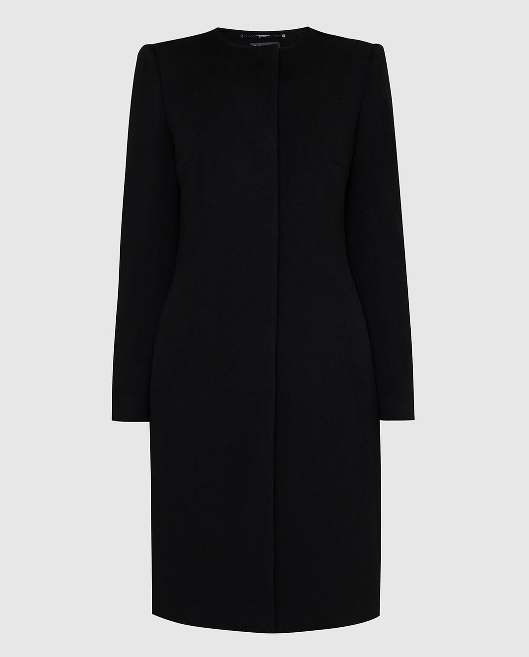 Heresis Черное пальто из шерсти D20M100SLIMG300