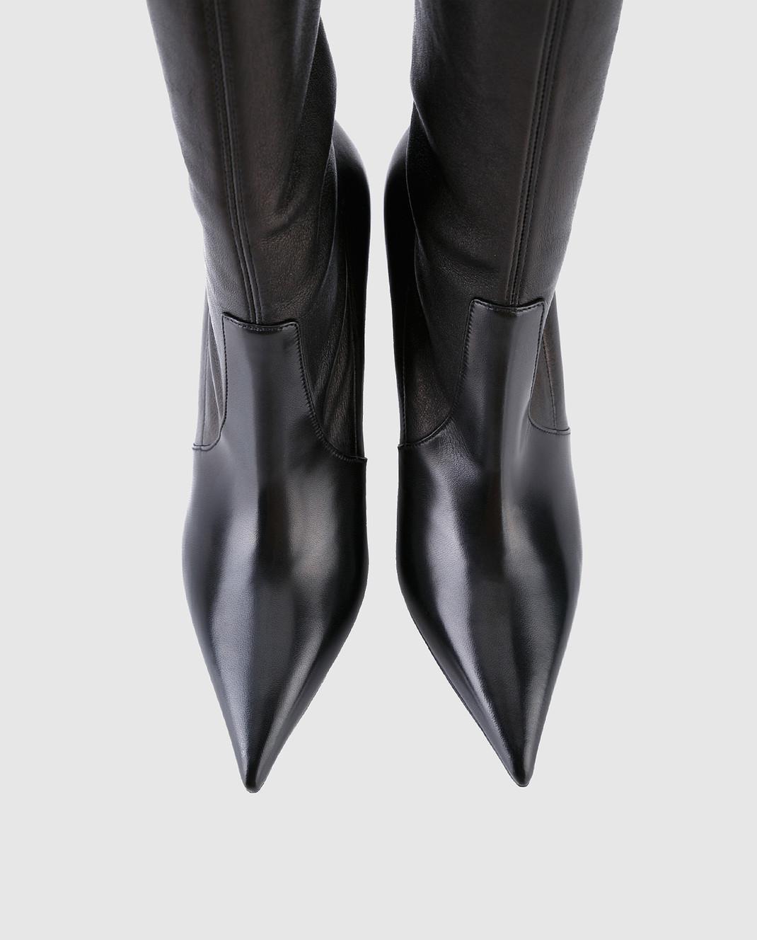 Casadei Черные кожаные ботфорты 1T722L090MPNAP изображение 4