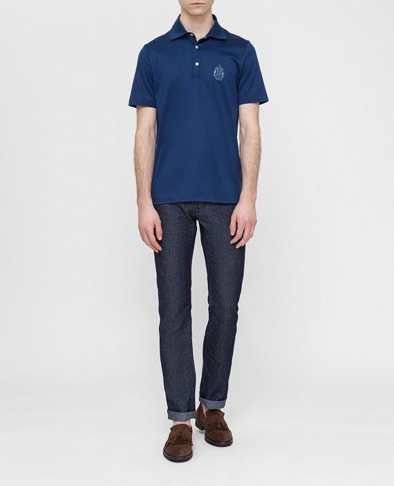 Темно-синие джинсы hover