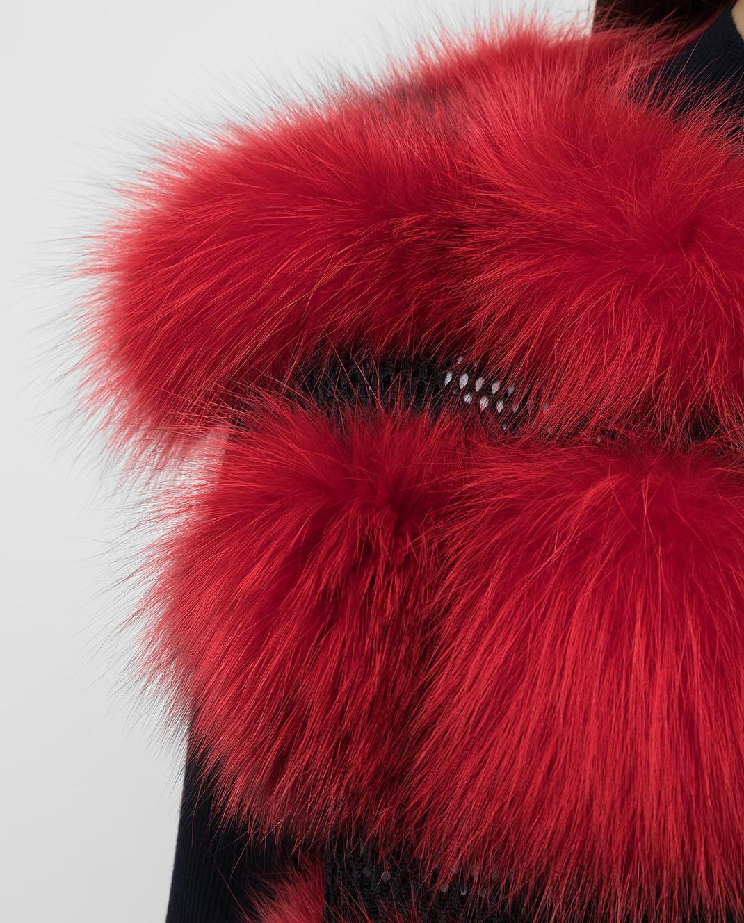 Florence Mode Красный жилет из меха лисы L1459BISV изображение 5