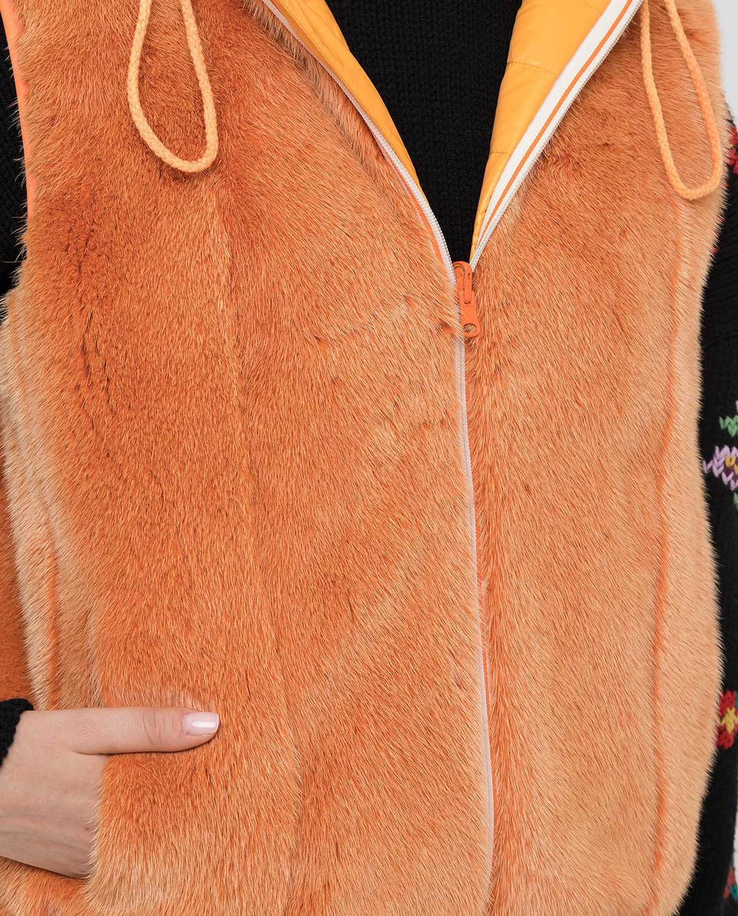 Florence Mode Оранжевый двухсторонний жилет L1405M изображение 5