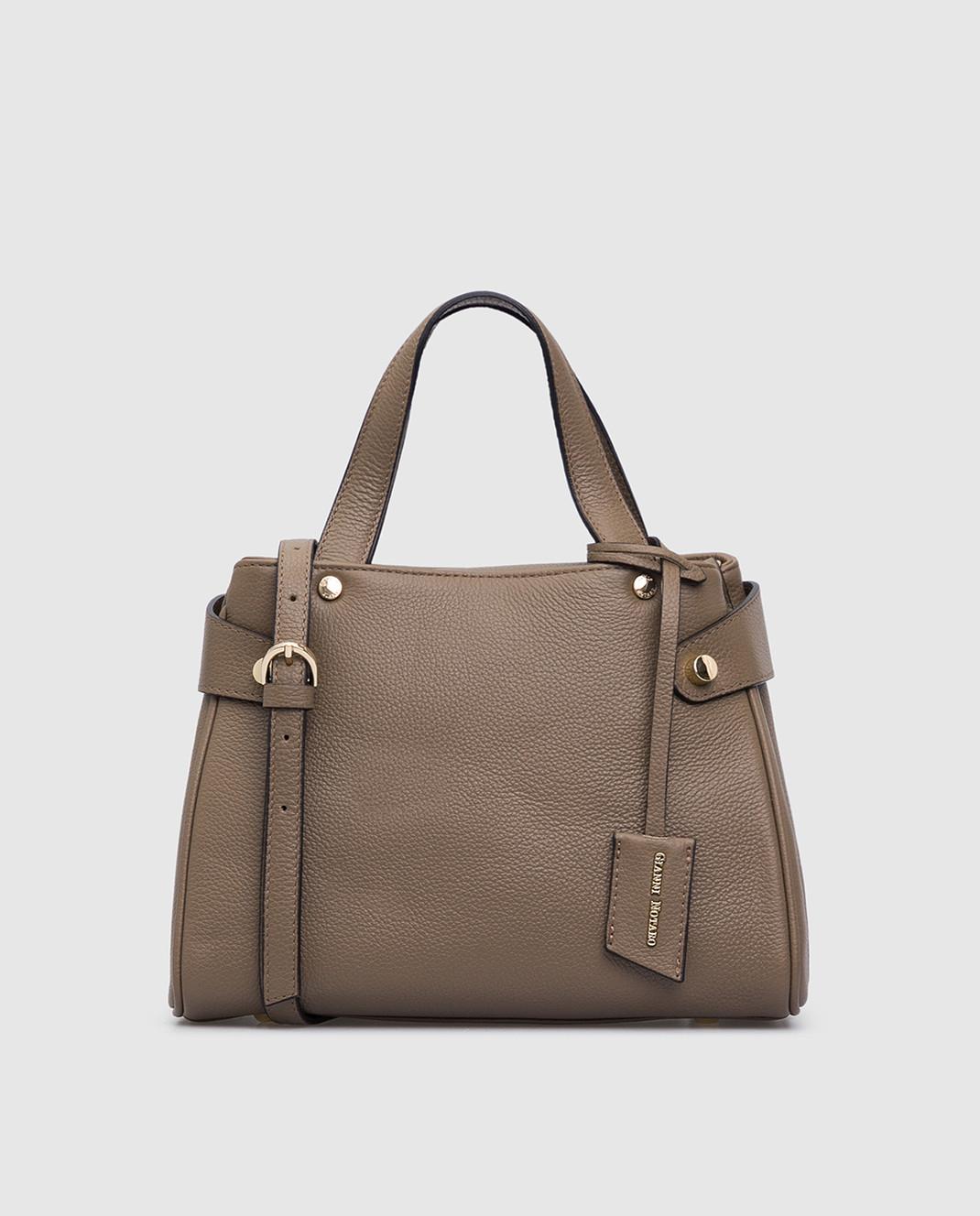 Gianni Notaro Коричневая кожаная сумка изображение 1