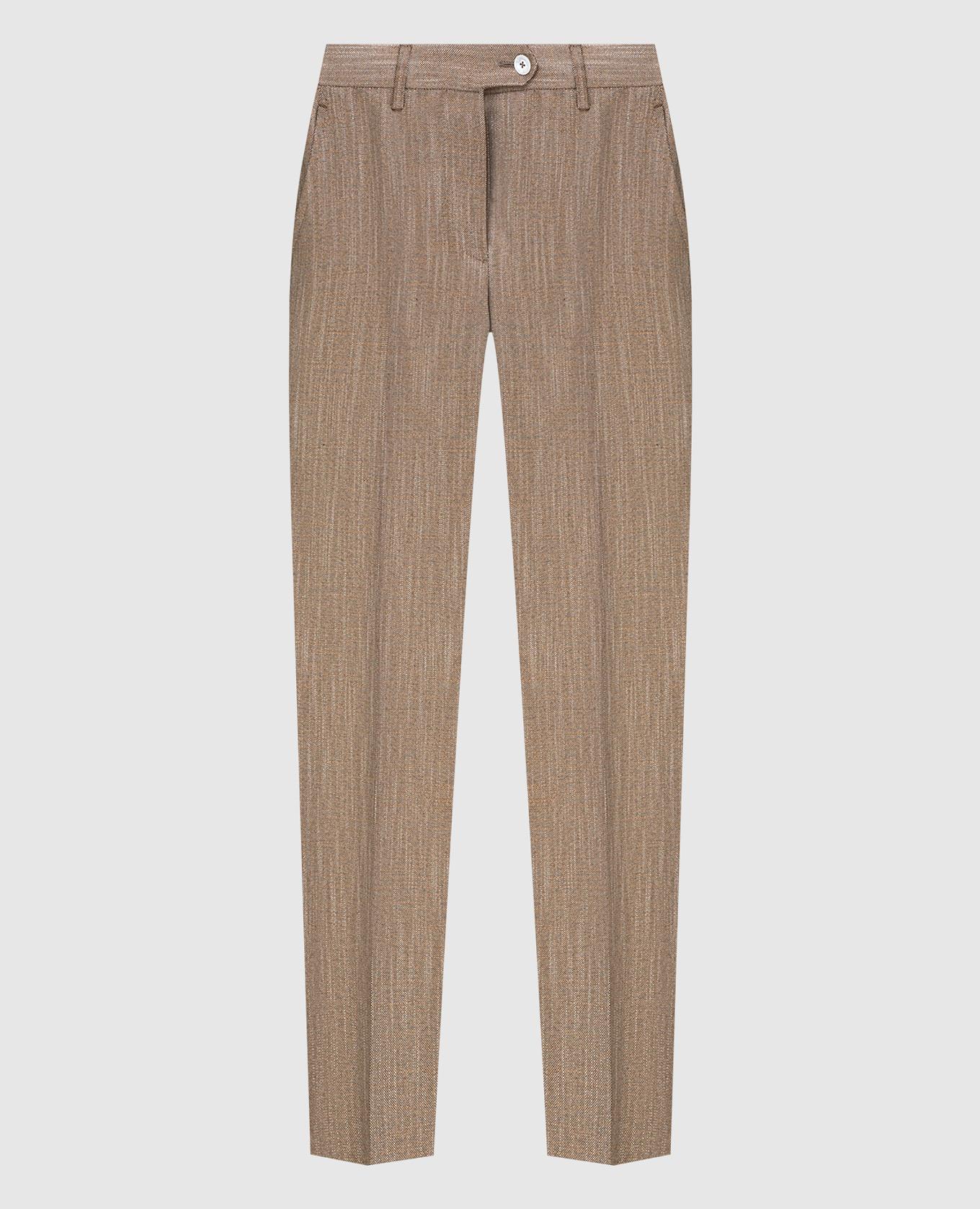 Темно-бежевые брюки Kiton