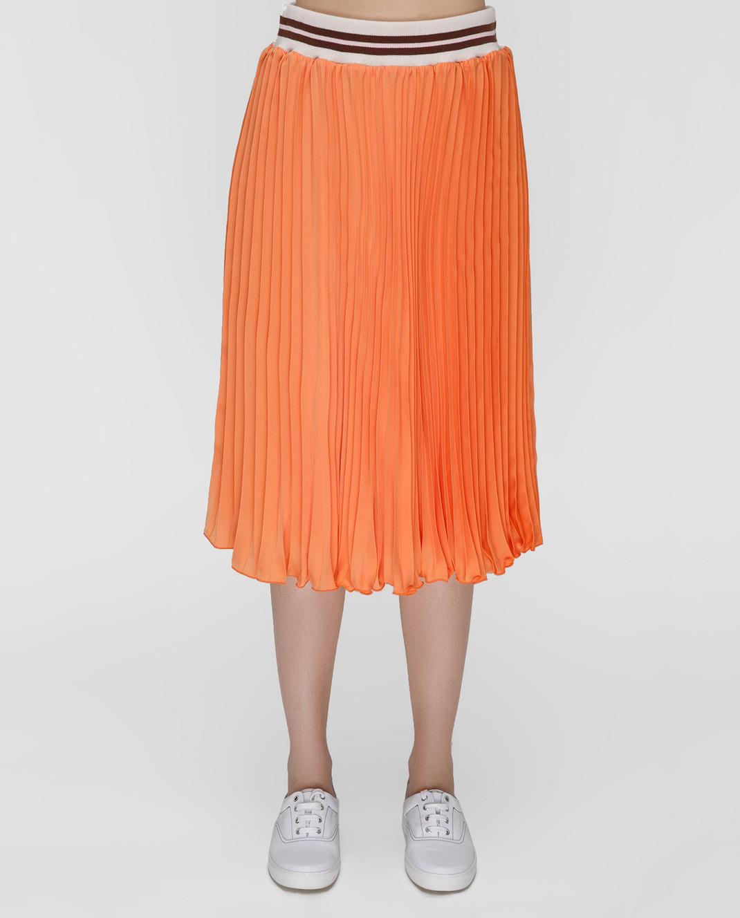 Blugirl Оранжевая юбка-плиссе 3321 изображение 3