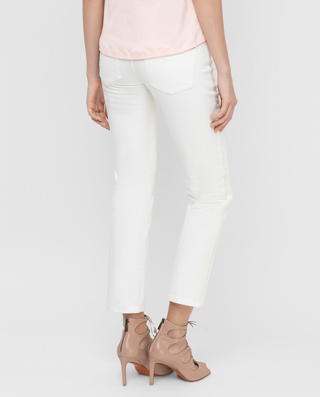 Roberto Cavalli Белые джинсы CQJ241 изображение 4