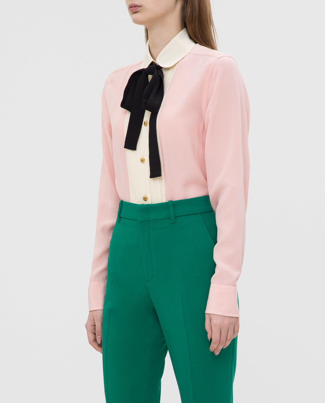Gucci Розовая рубашка из шелка 544892 изображение 3
