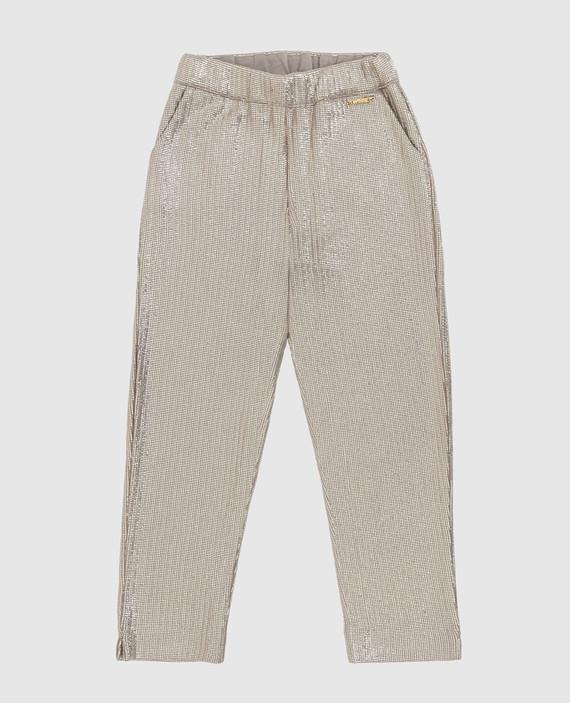 Детские бежевые брюки