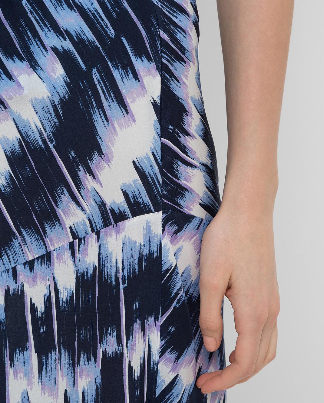 Max Mara Sportmax Темно-синяя юбка из шелка FALENA изображение 5