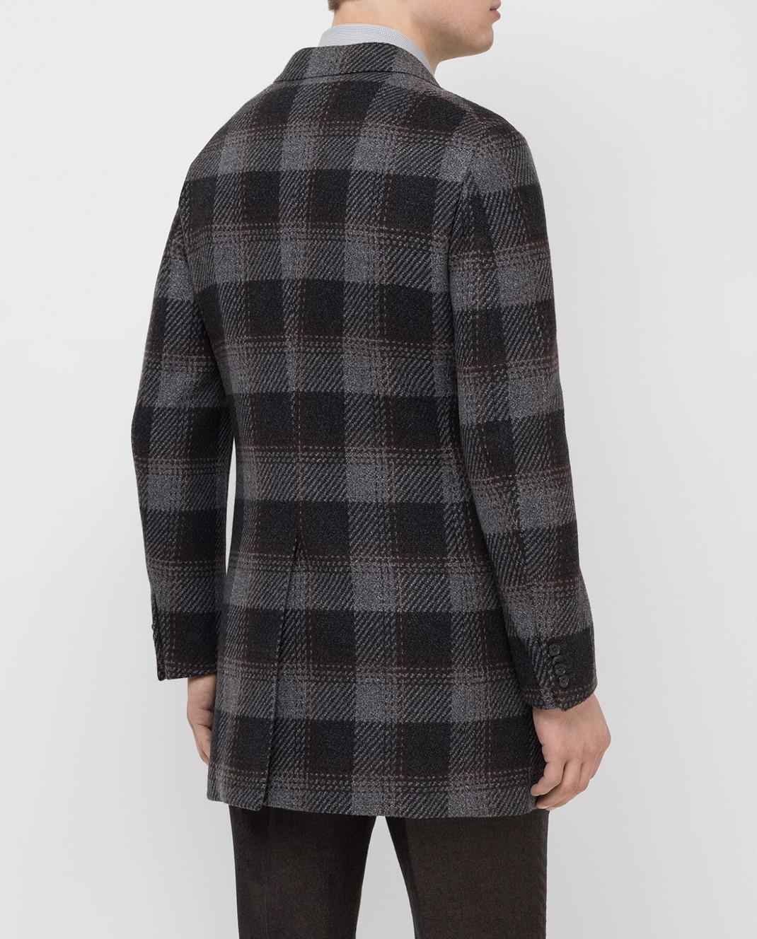 ISAIA Темно-серое пальто из шерсти 00736887340 изображение 4