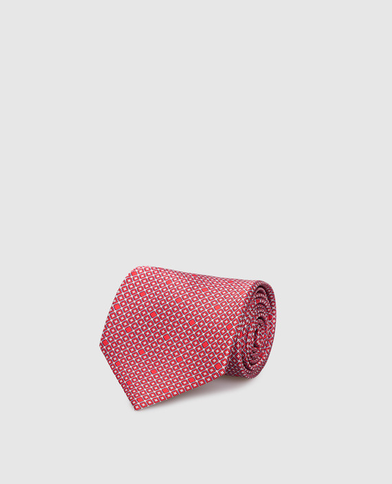 Красный галстук ручной работы из шелка