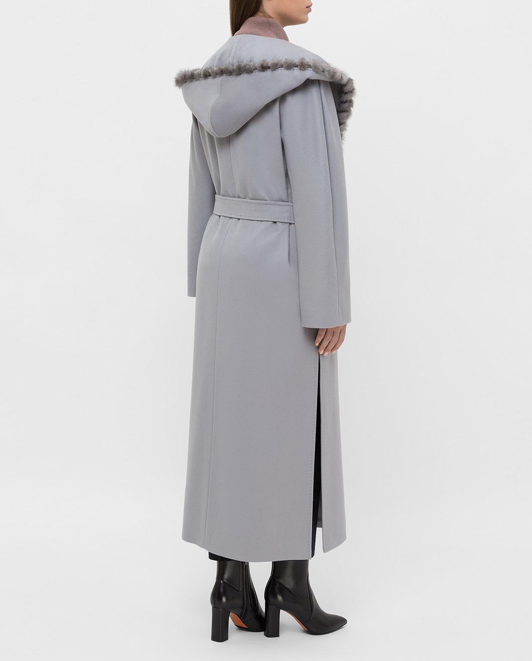 Heresis Серое пальто из шерсти M33130VIF260 изображение 4
