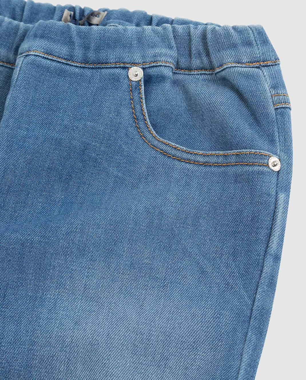 Ermanno Scervino Детские синие джинсы JL081012 изображение 3