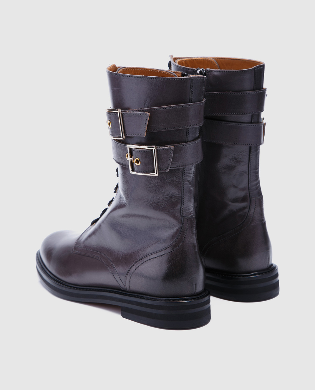 Doucal's Коричневые кожаные ботинки DD8260SOFIUF063 изображение 3