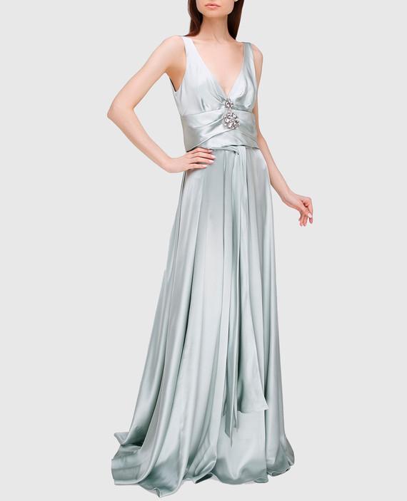 Светло-серое платье из шелка hover