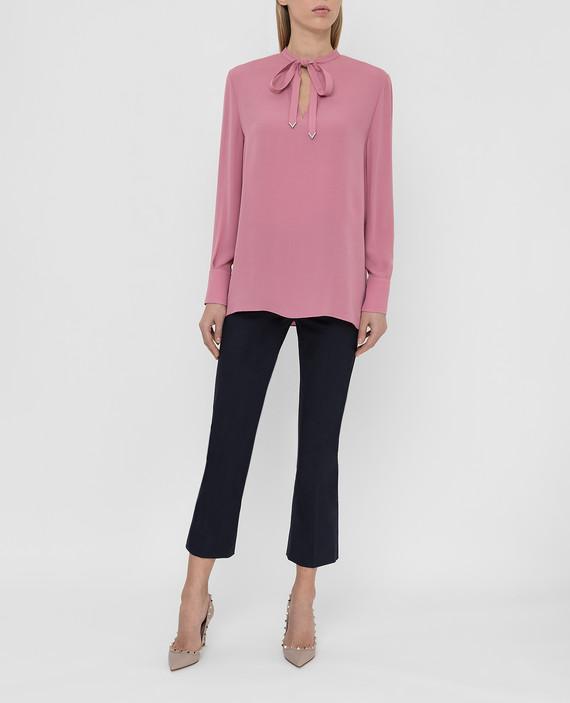 Розовая блуза из шелка hover