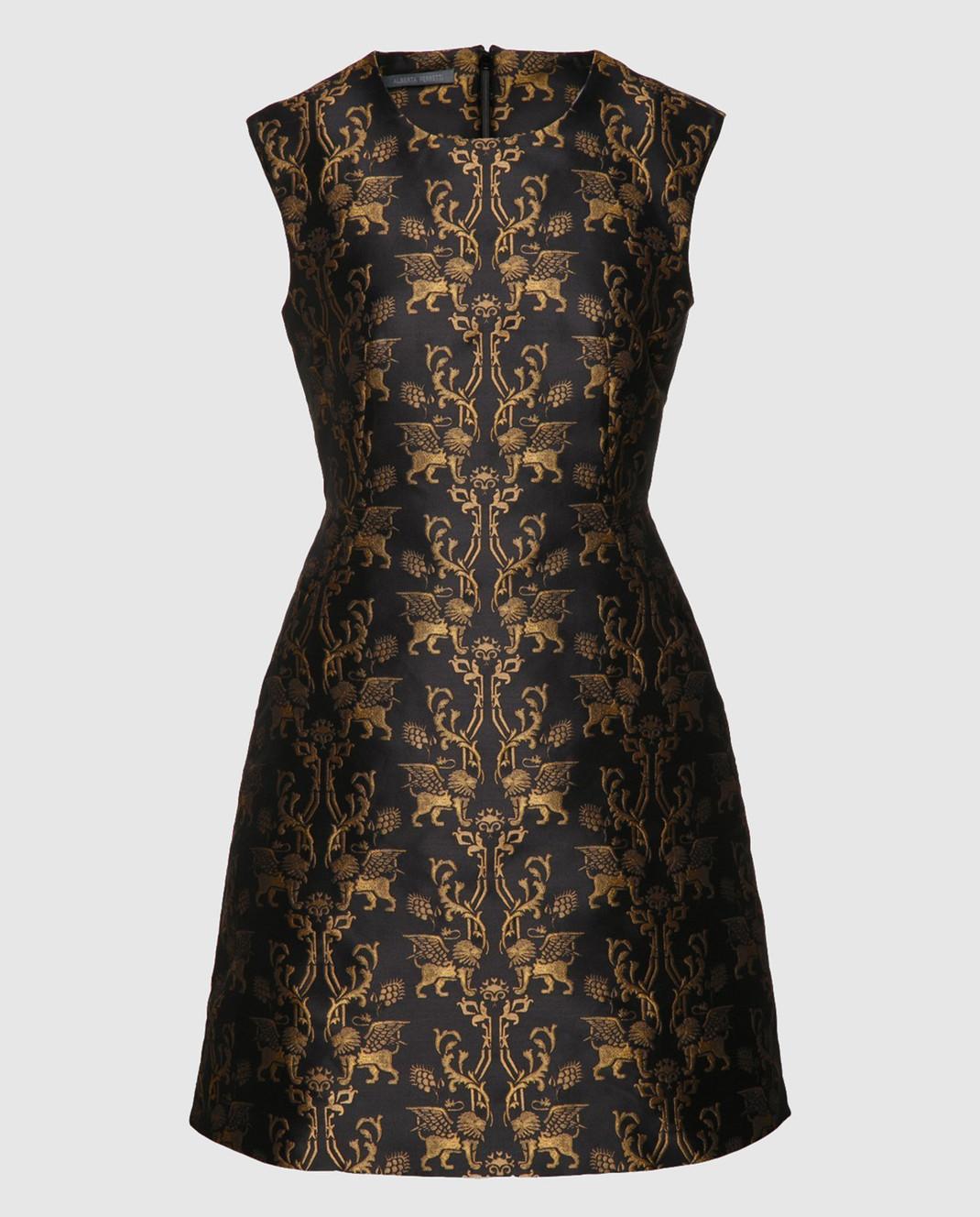Alberta Ferretti Черное платье Winged lion A0451