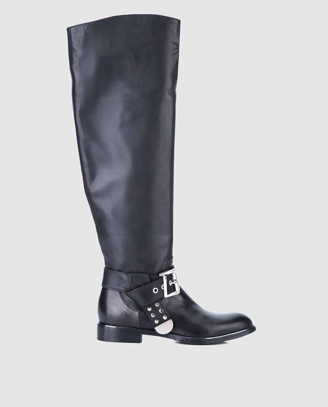 Fru it Черные кожаные сапоги изображение 1
