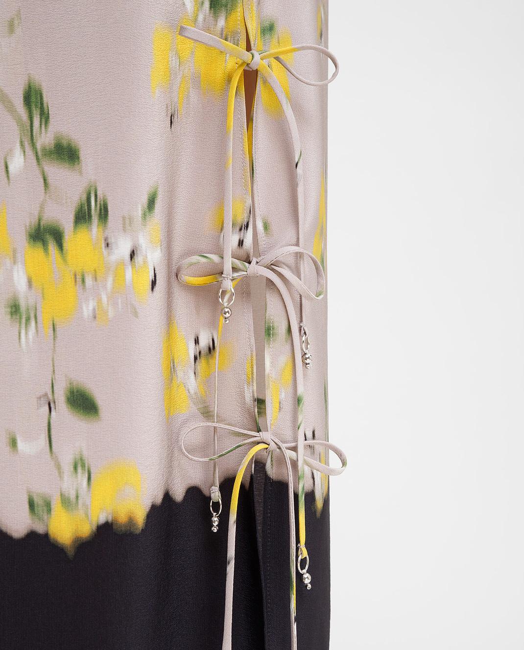 Altuzarra Серая юбка из шелка изображение 5