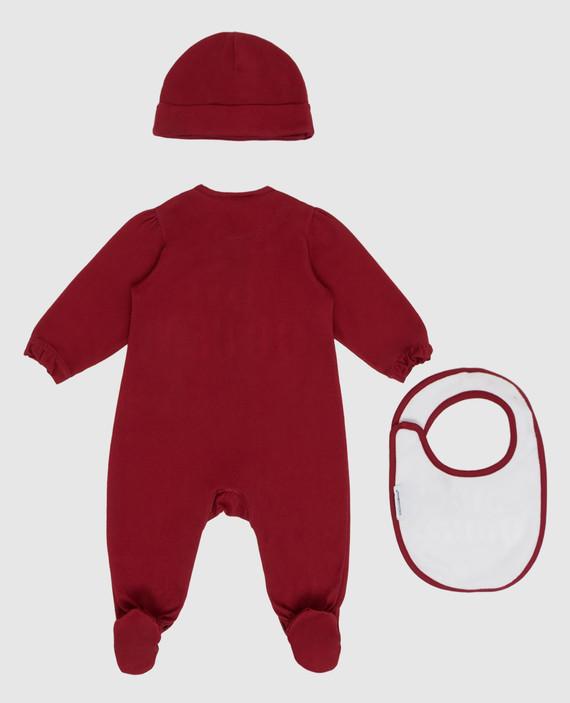 Детский бордовый комплект hover
