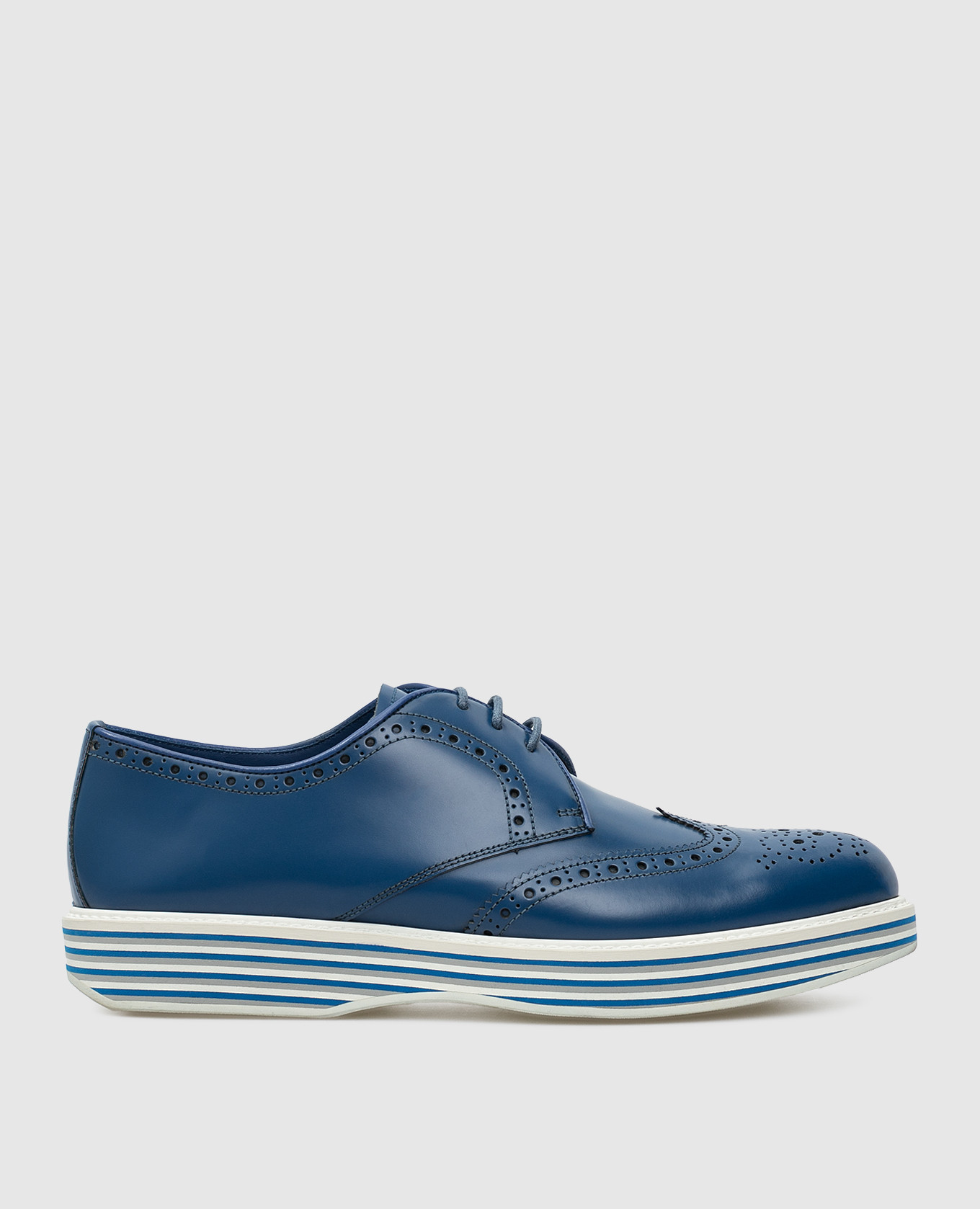 Синие кожаные дерби